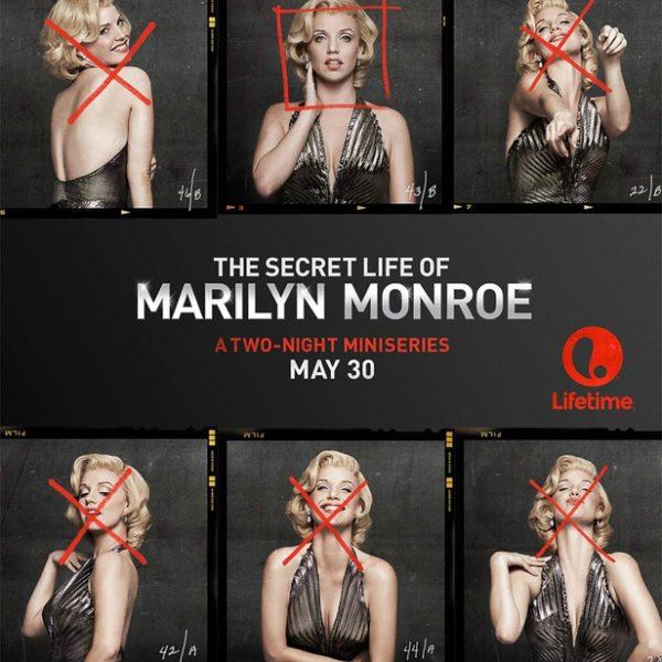 "TV mini-series ""Secret life of Marilyn Monroe"" poster"