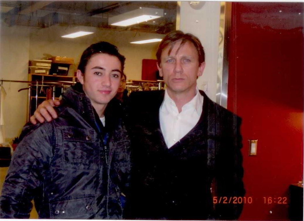A photo of actor Daniel Craig on set of the movie