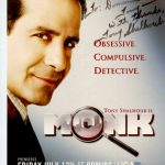 """Autographed """"Monk"""" poster from lead actor Tony Shalhoub."""